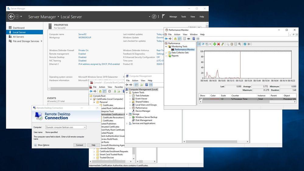 Classic Windows Server Management Tools