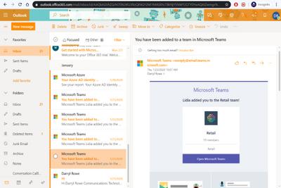 Outlook Online Inbox