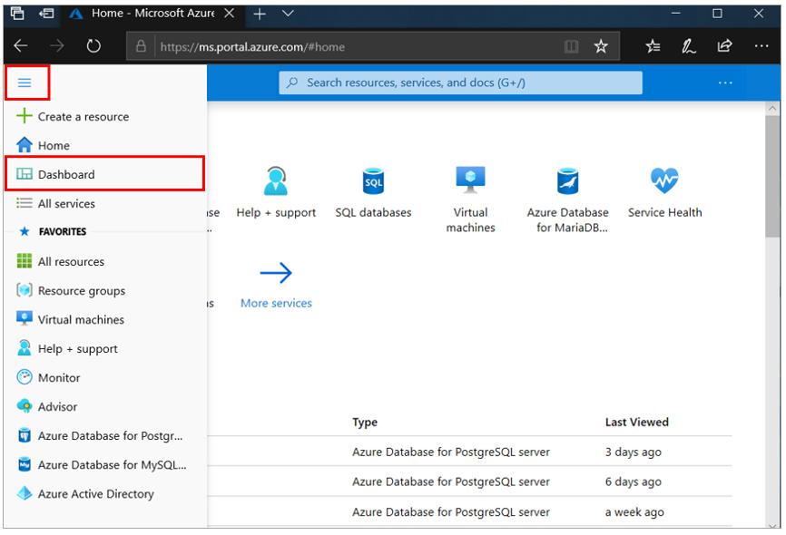 1.Azure portal menu dashboard .png