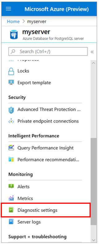 6.Azure Postgres menu diagnostic settings_P.png
