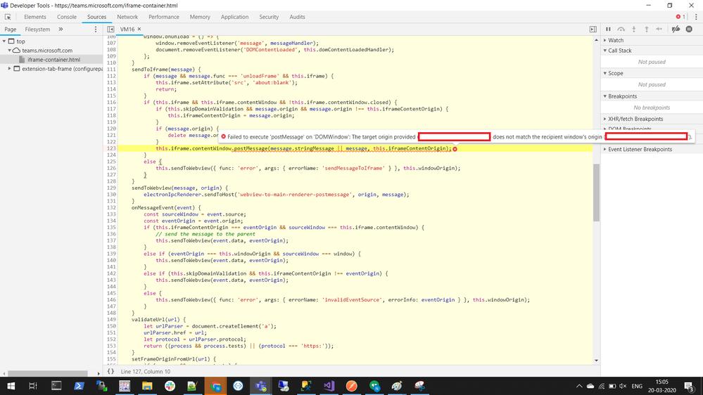 Dev Preview Detailed error