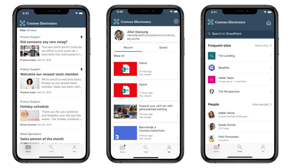 Company branding with the SharePoint mobile app