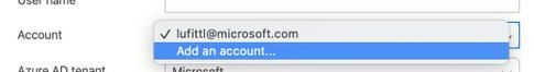 Adding an Azure AD account to Azure Data Studio