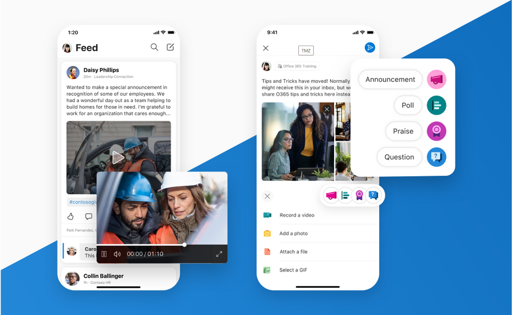 Include links, media, gifs and other content in your posts. Set your conversation style within the new publishing experience.