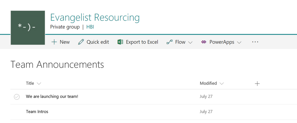 Updated look and feel for SharePoint Announcements List