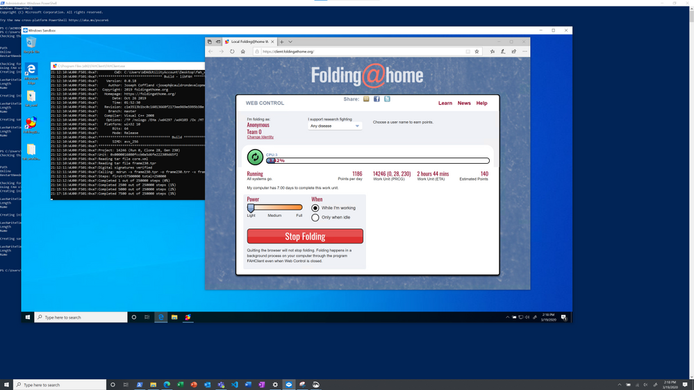 Folding@Home in Windows Sandbox