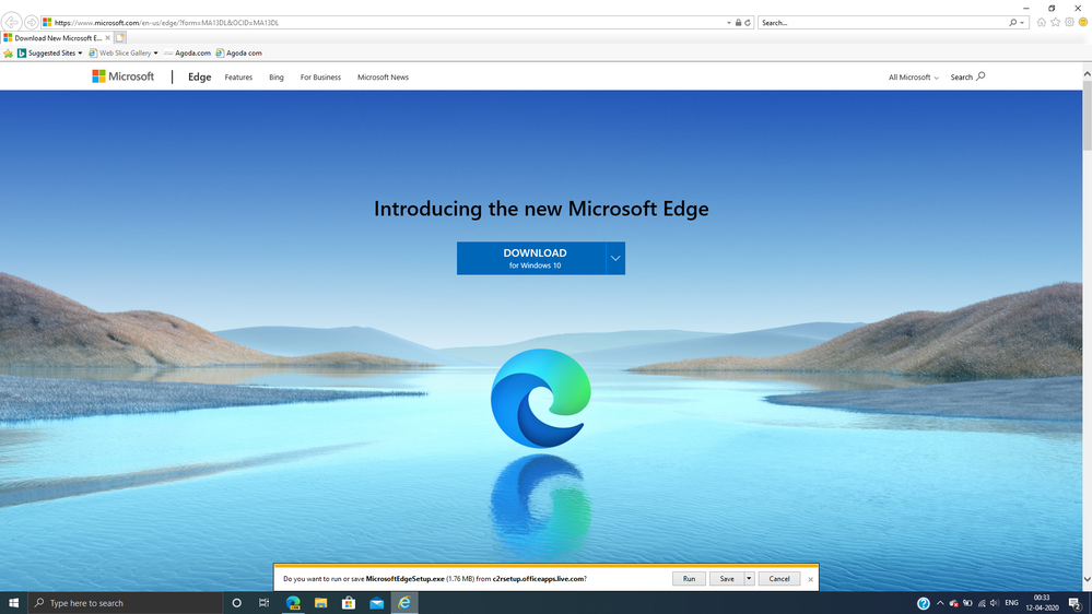 IE and Edge Legacy always asked wether to run or save file