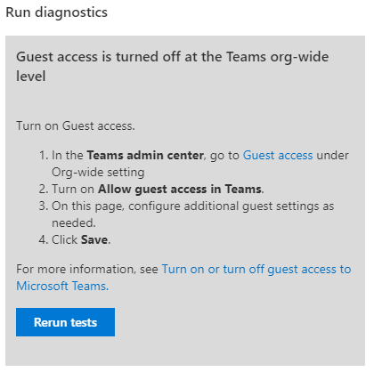 Guest Access is turned off!