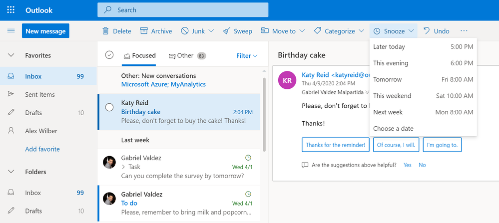 Image 10 - Snooze in Outlook on the web or customize swipe action in Outlook on your phone to snooze messages.png
