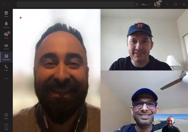 Left to right clockwise: Benjamin Niaulin (Head of Product, ShareGate [guest]), Chris McNulty (Director, Microsoft [co-host]), Tejas Mehta (Principal program manager, Microsoft [guest]), and Mark Kashman (Senior product manager, Microsoft [co-host]).