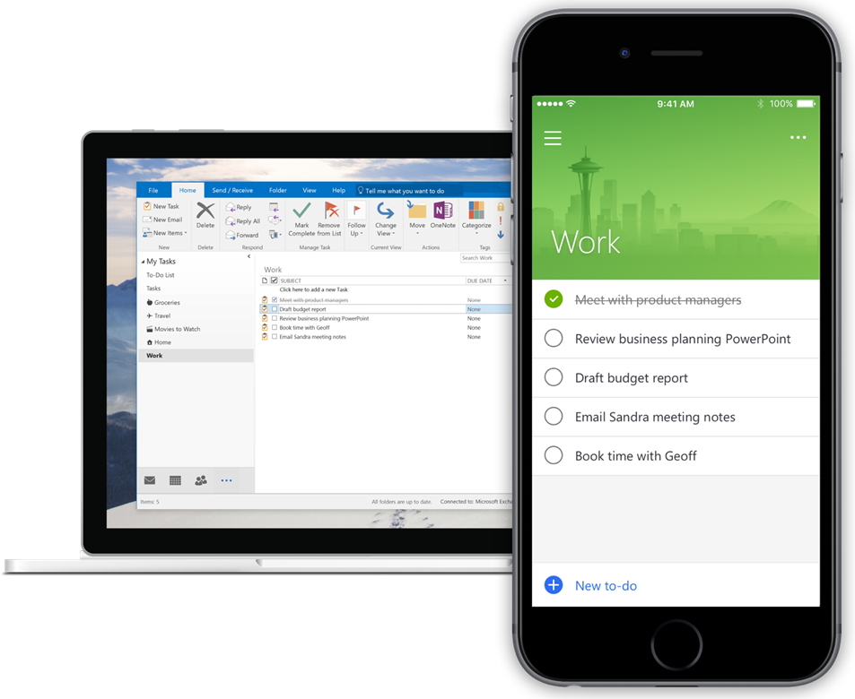 Sync with Outlook Tasks