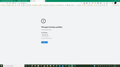 Re Websites No Longer Loading With Latest Canary Update Page 2 Microsoft Tech Community