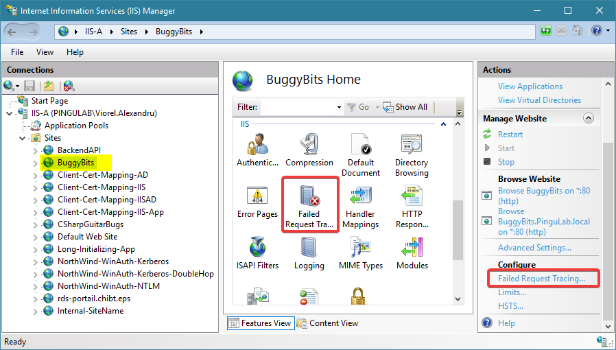 Access the feature from any level to collect targeted traces. But only enable or disable from site level