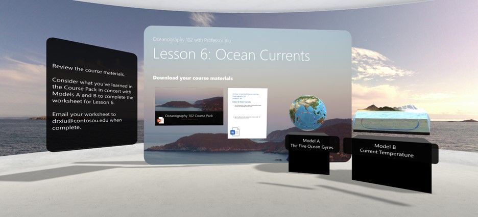 A SharePoint space showcasing interactive 3D objects, video and text.