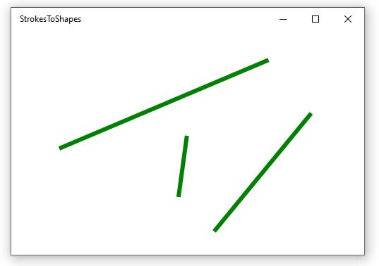 XAML Shapes (Line) on a UWP Window