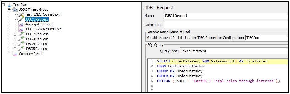 JDBC Request Diagram