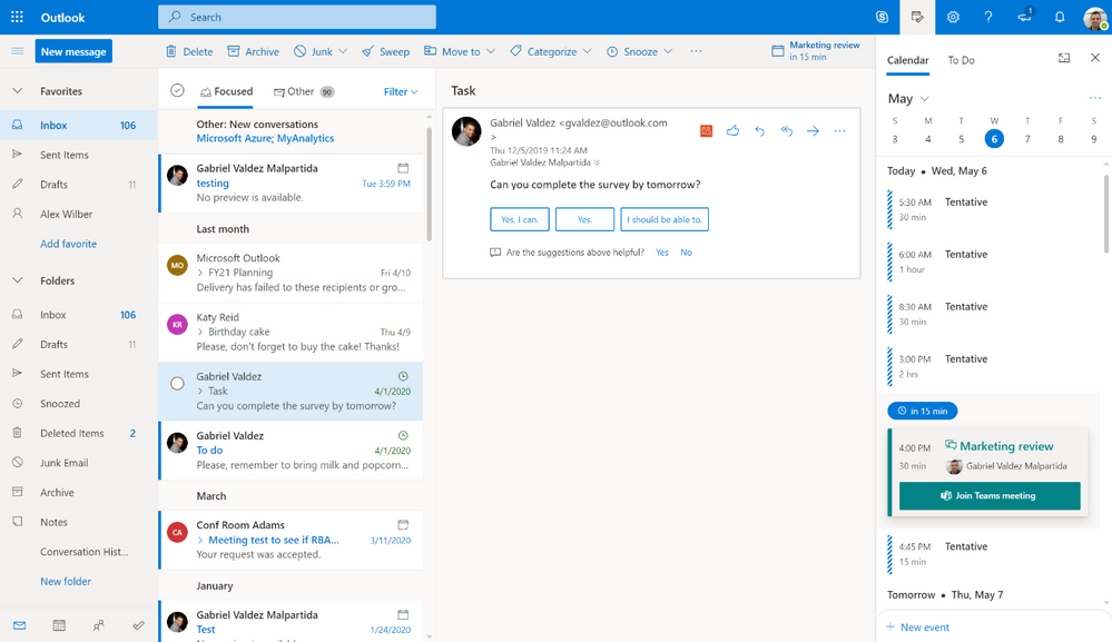 Join from your Outlook Calendar agenda