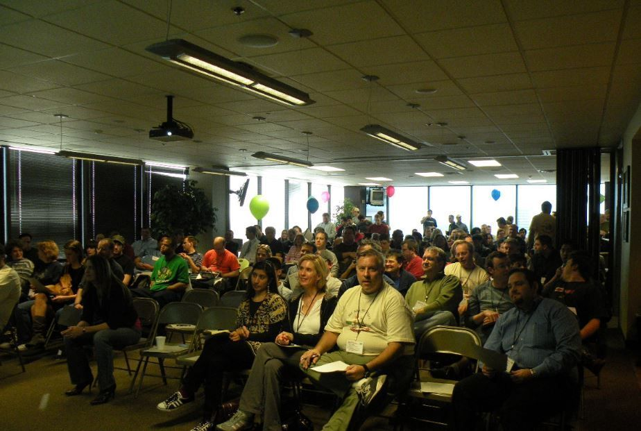 Throwback photo of the first-ever GiveCamp back in 2009!