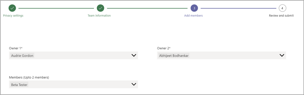 Figure 4 Follow best practices in ownership and enable member population up-front