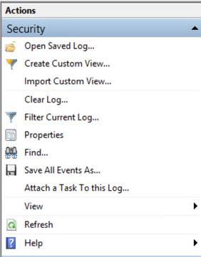 Select filter current log
