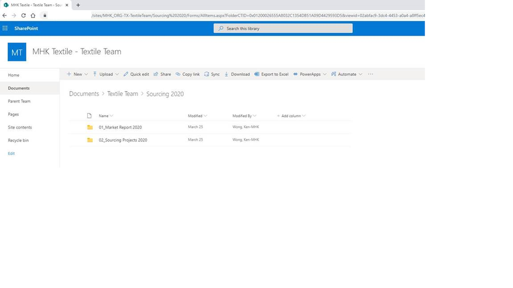 SharePoint Site of the private channel