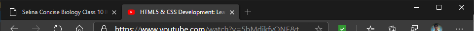 Example of space left on top of titlebar when Microsoft Edge is half-snipped or is in windowed mode.
