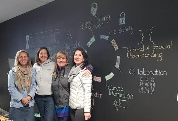 The Digital Literacy Project Team (left to right) – Michelle Lategan (Learning and Development), Helen Behm (HR Manager), Tracy van der Schyff (Microsoft MVP) and Christine Thomas (ICT Business Analyst / Project Manager)
