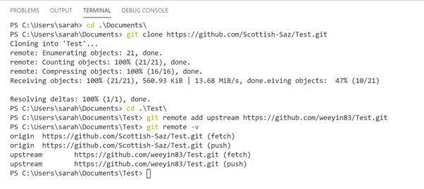 Sync Github repository