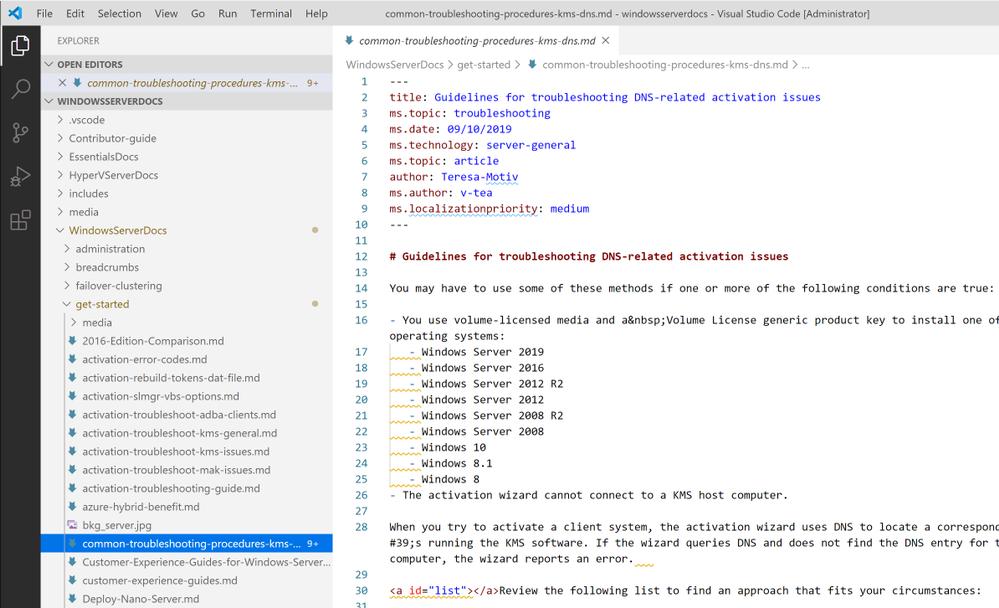 Visual Studio Code folder structure
