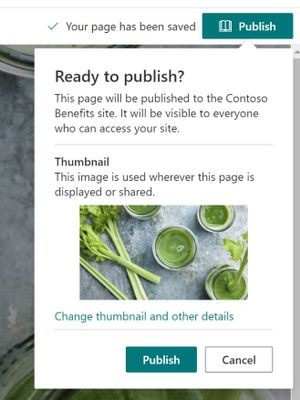 Get actionable insights before you publish your page or news article in SharePoint.