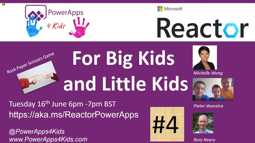 Session Flyer with Microsoft Reactor