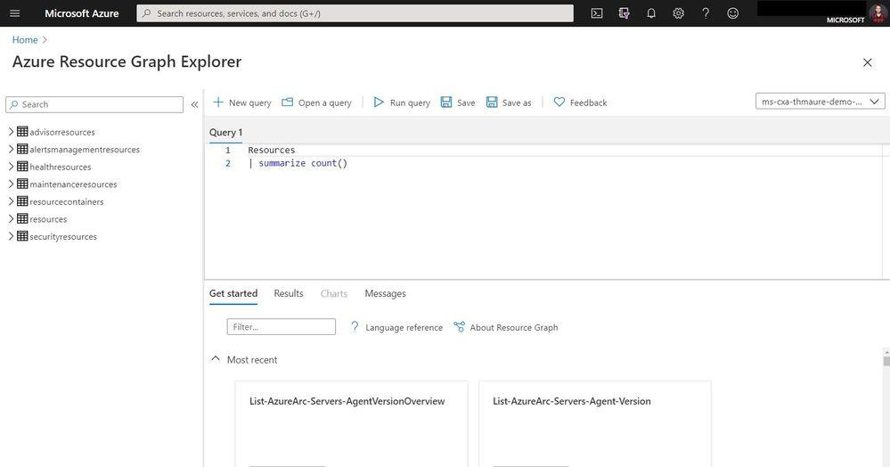 Azure Resource Graph Explorer Query using a Link