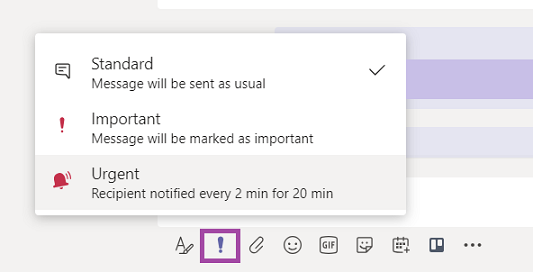Priority notifications can be found in the message actions tray.