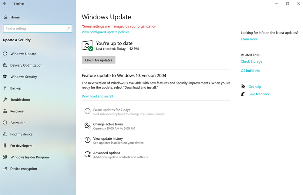 How a Windows 10 feature update is offered