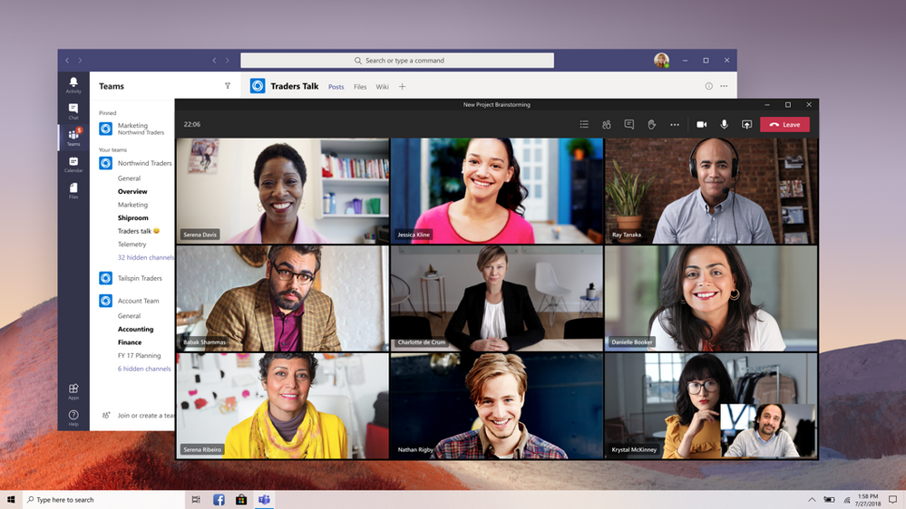 Multi-window capability coming to Microsoft Teams meetings and calling.