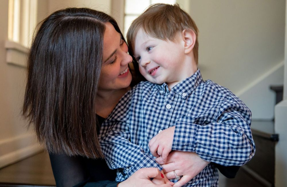 Melissa Mullholland and son. Photo credit: Suzanne Choney/Microsoft News.