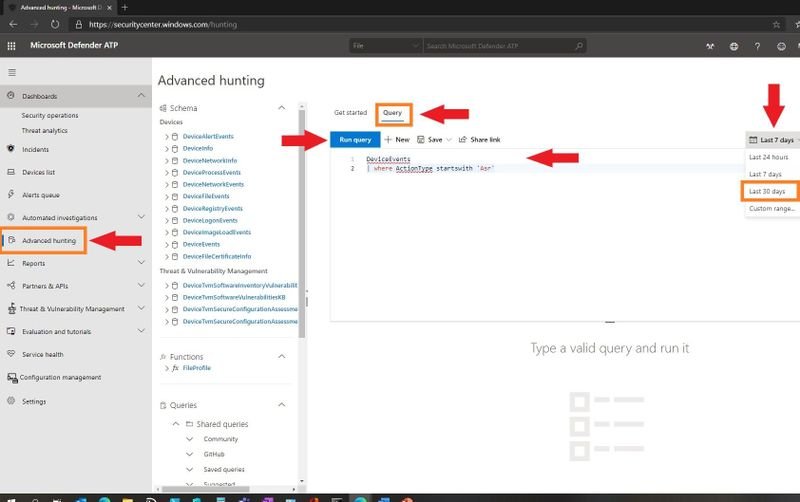 Advanced Hunting in MDATP for ASR Events
