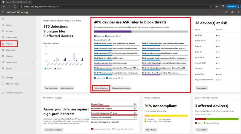 Microsoft Threat Protection ASR Events