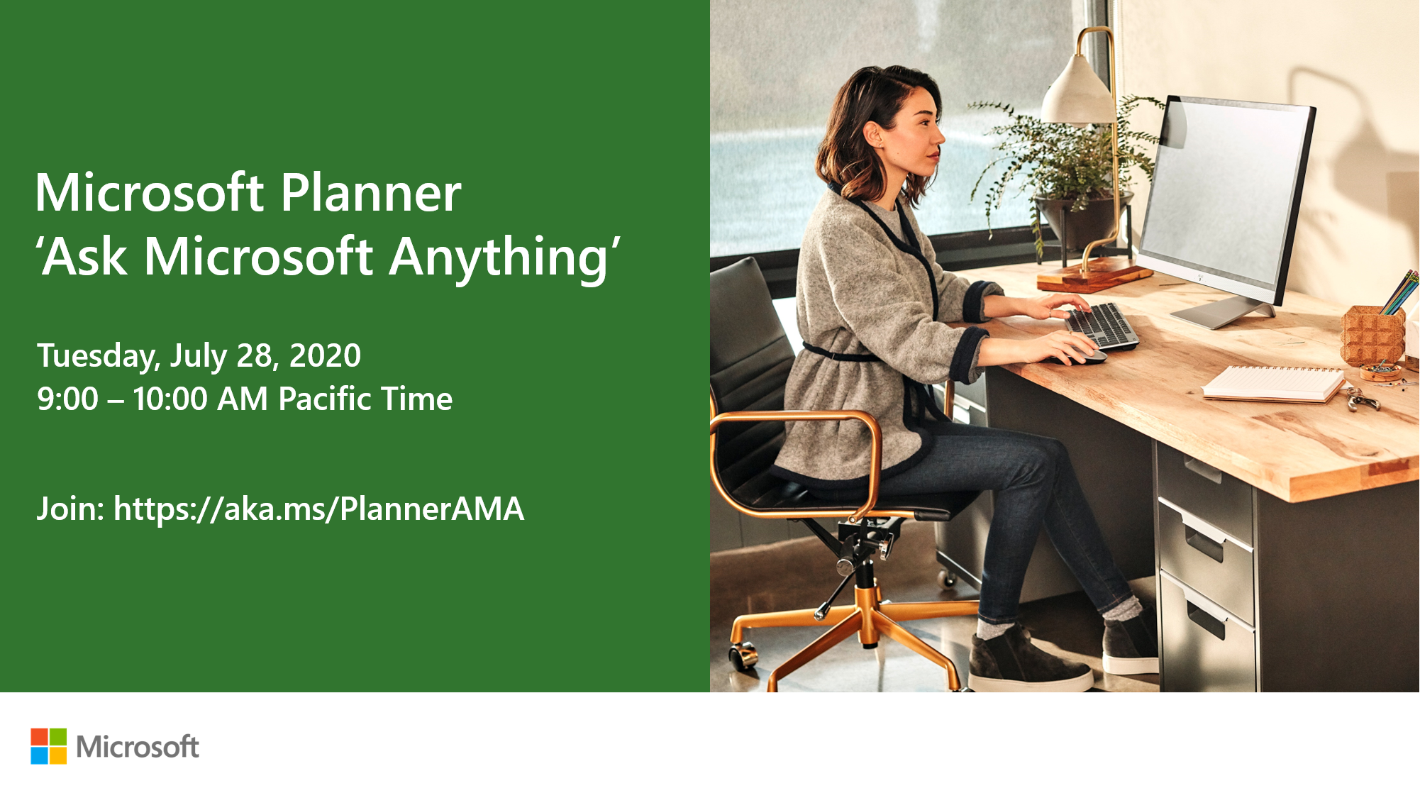 Microsoft Planner 'Ask Microsoft Anything' call to action