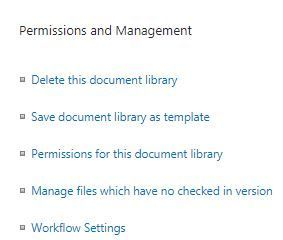 Permissions for this document library
