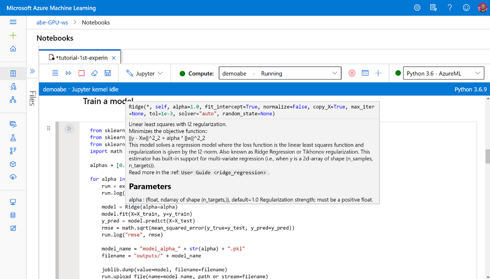 Notebooks are integrated into Azure Machine Learning studio