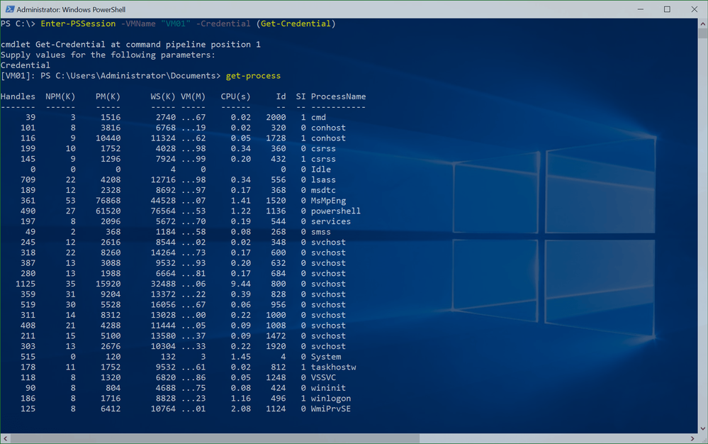PowerShell Direct Session