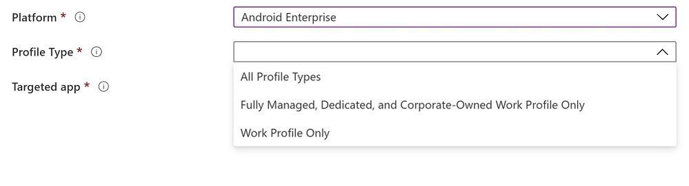 Create a policy - App configuration policy
