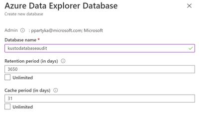 Figure 14: Create new database