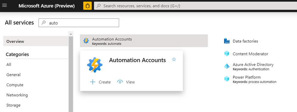 Figure 20: Automation Accounts