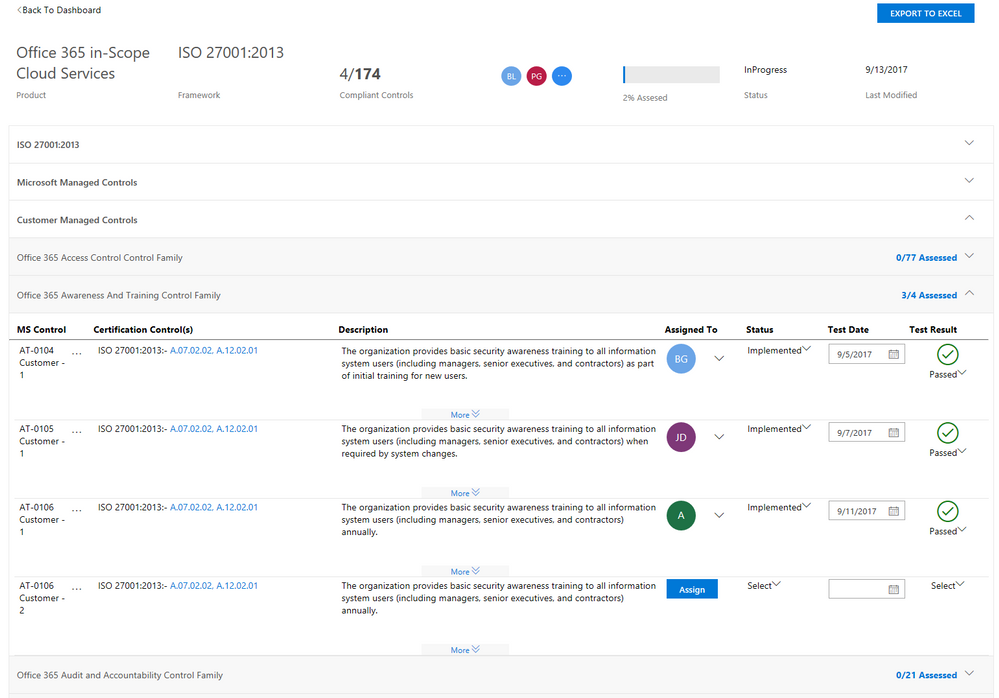 Control management tool for customer-managed controls