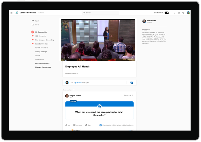 Engage with Q&A in live events across devices