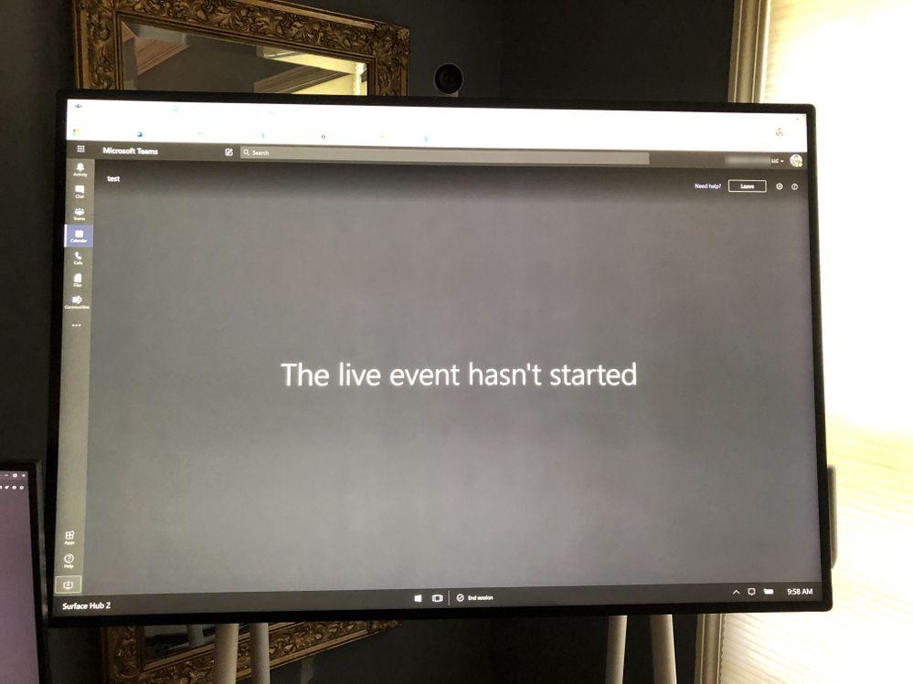 Teams running in Edge Chromium on Surface Hub - Pre Live Meeting