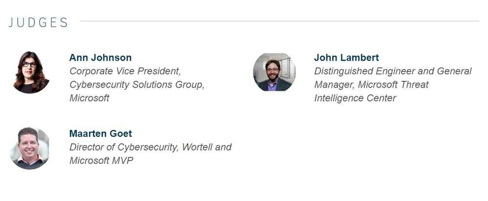 Azure Sentinel Hackathon Judges