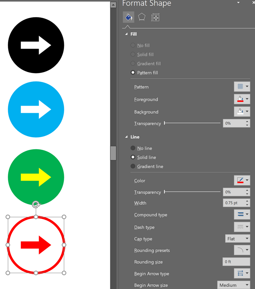 Formatted symbols